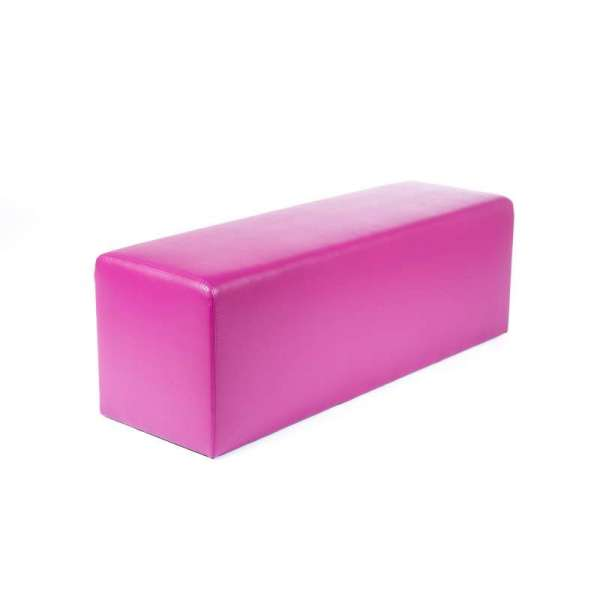 Pouf long rectangulaire violet MaxQ120 - 38