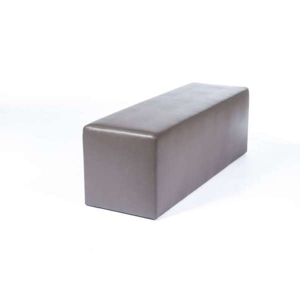Pouf long rectangulaire gris MaxQ120 - 39