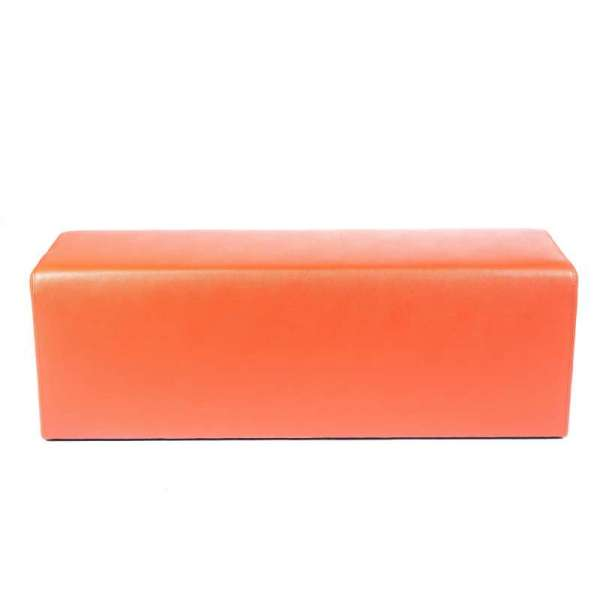 Pouf rectangulaire orange MaxQ120 - 40