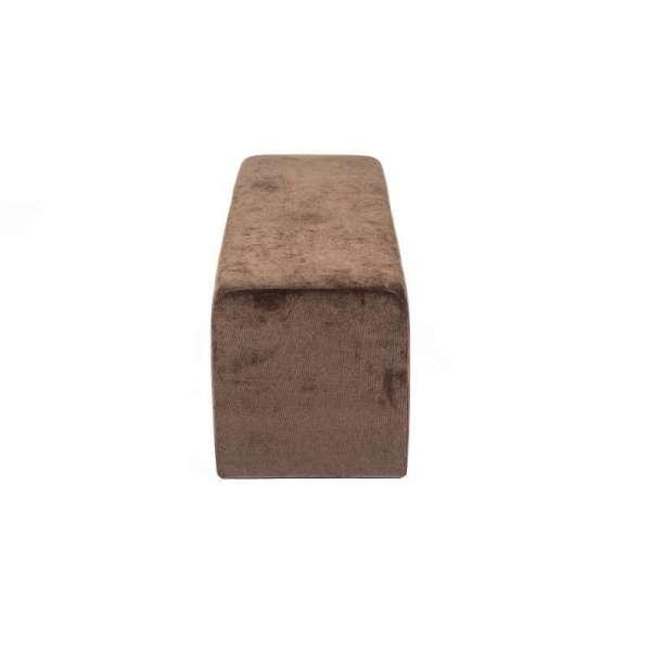 Pouf en tissu marron Max Q120 - 8