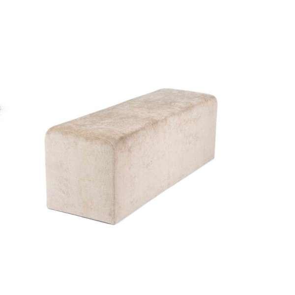 Pouf rembourré en tissu blanc Max Q120 - 10