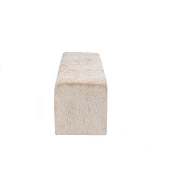 Pouf en tissu blanc Max Q120 - 11