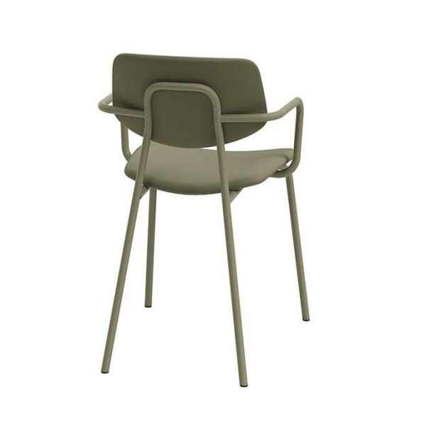 Chaise avec accoudoirs vintage rembourrée - Lago - 2