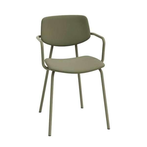 Chaise avec accoudoirs vintage rembourrée - Lago - 3
