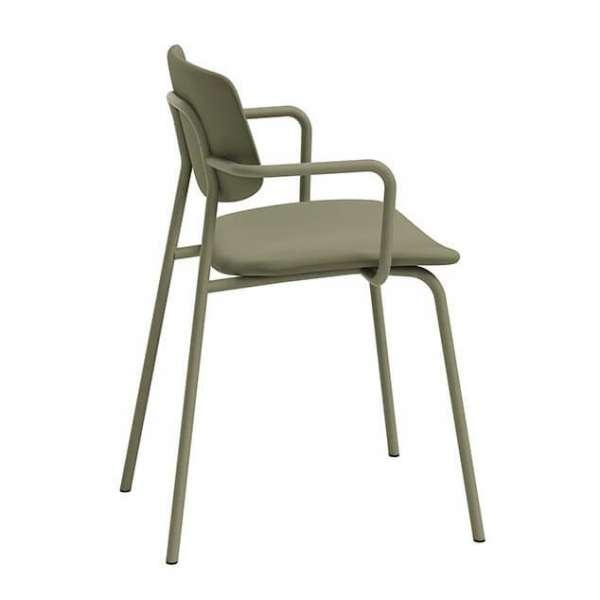 Chaise avec accoudoirs vintage rembourrée - Lago - 4