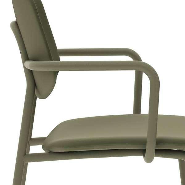 Chaise avec accoudoirs vintage rembourrée - Lago - 5