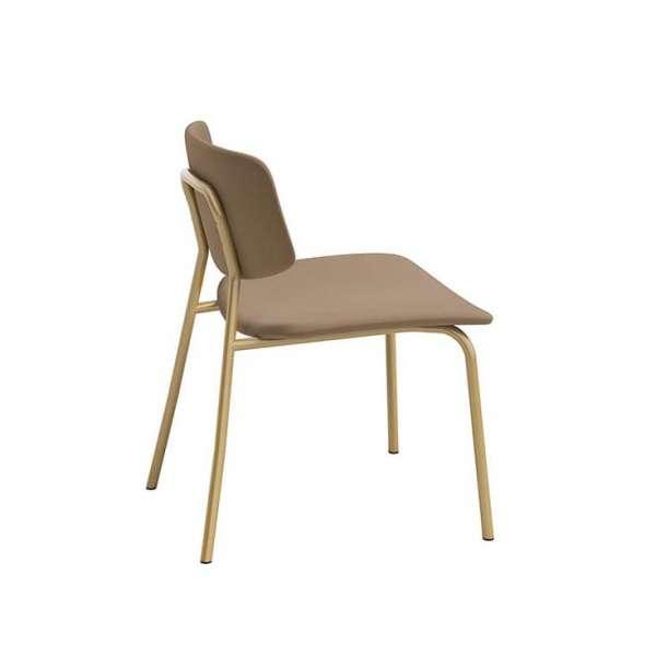 Chaise basse vintage rembourrée fabriquée en Belgique - Lago - 4