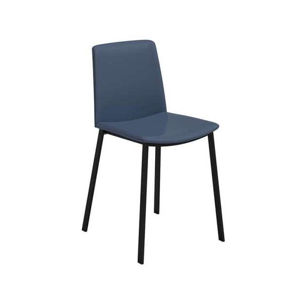 Chaise moderne rembourrée avec pieds en métal - Primera - 1
