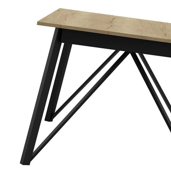 Table design extensible en stratifié et pieds en métal - Wacko - 3