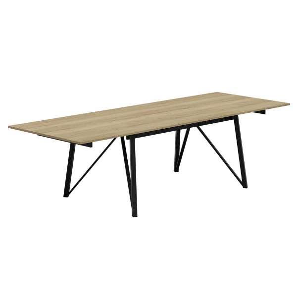 Table design extensible en stratifié et pieds en métal - Wacko - 2