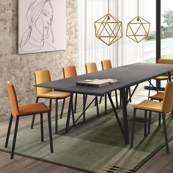 Table design extensible en stratifié et pieds en métal - Wacko - 4