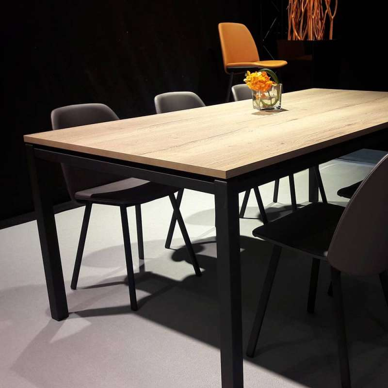 et métal de en salle en manger Table pieds stratifié Vicenza à qMUpLSVzG