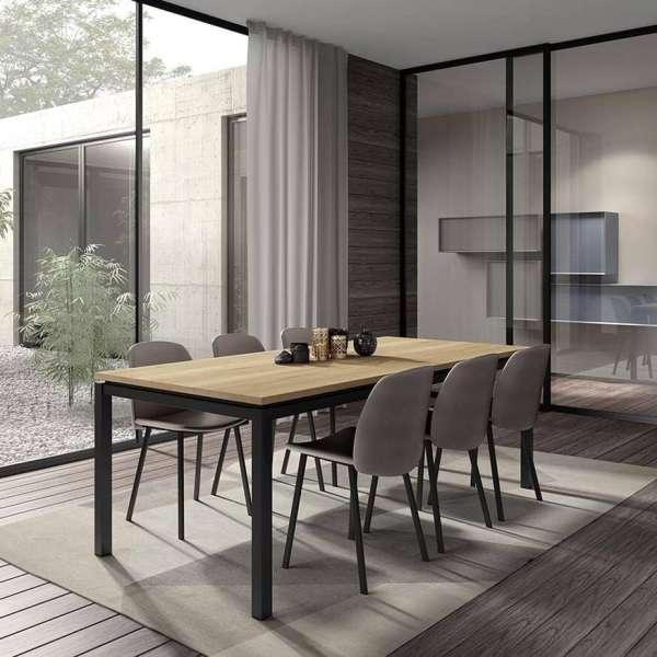 Table de salle à manger en stratifié et pieds en métal - Vicenza