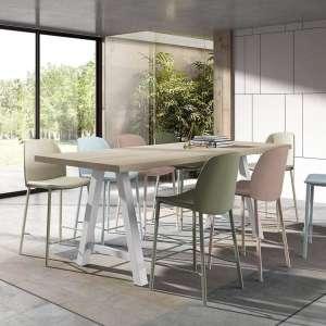 Table snack moderne de salle à manger en stratifié - Querido