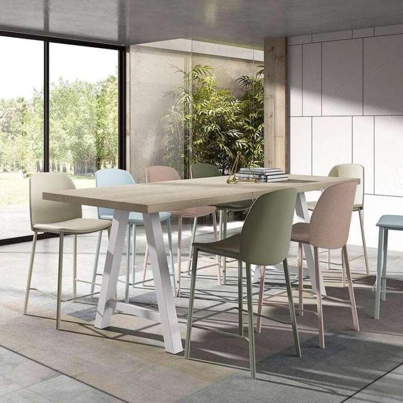 Table snack moderne de salle manger en stratifi - Treteaux pour table salle manger ...