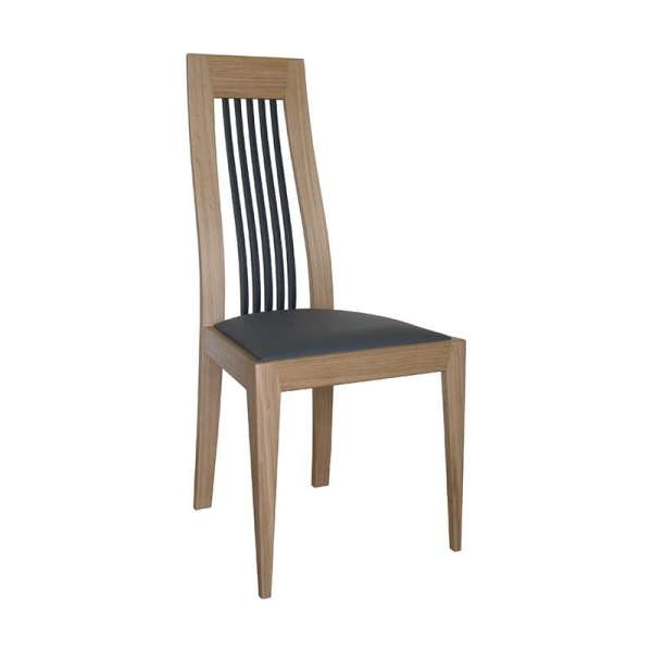 Chaise de salle à manger fabriquée en France en bois massif - Lola