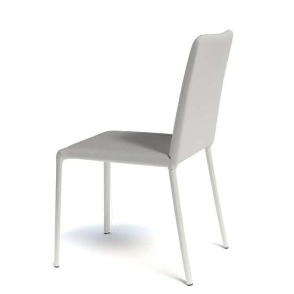Chaise contemporaine gainée en synthétique blanc - Grinta - 7