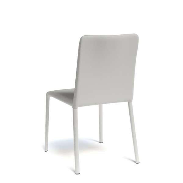 Chaise gainée coloris blanc - Grinta - 8