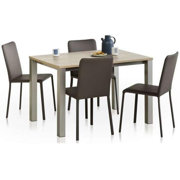 Chaise de salle à manger contemporaine gainée en synthétique - Grinta - 13