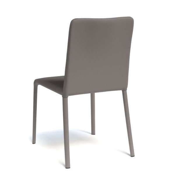 Chaise gainée coloris taupe - Grinta - 4