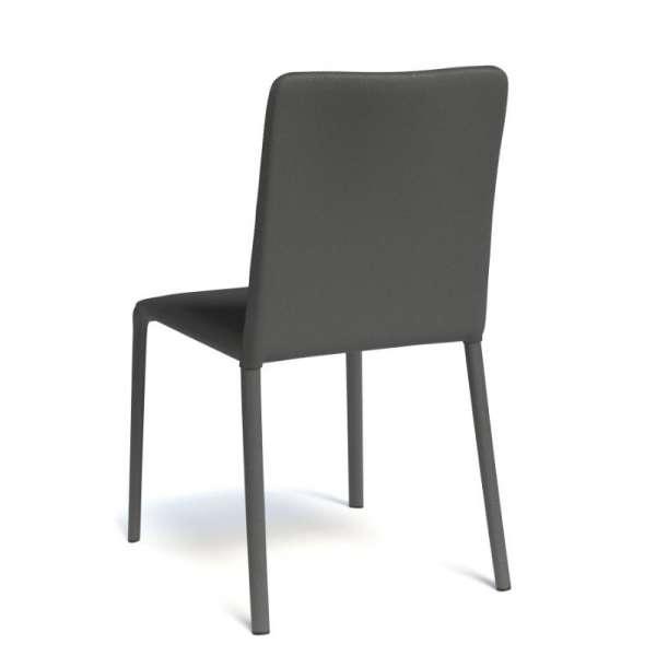 Chaise gainée coloris noir - Grinta - 12