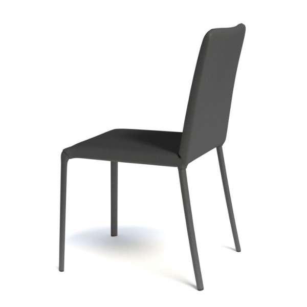 Chaise contemporaine gainée en synthétique noir - Grinta - 11