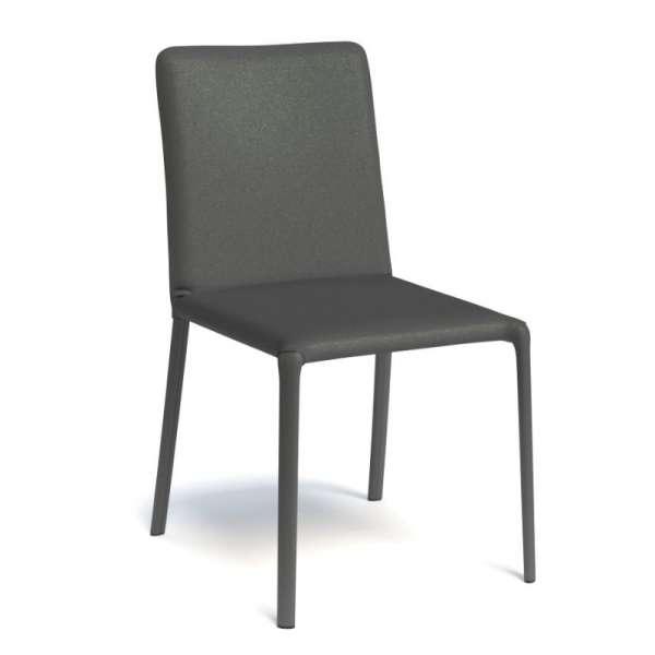 Chaise de salle à manger contemporaine gainée noire - Grinta - 9