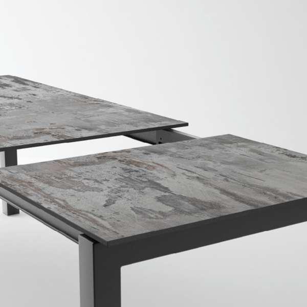 Table en Dekton rectangulaire extensible avec pieds en métal - Lakera - 14