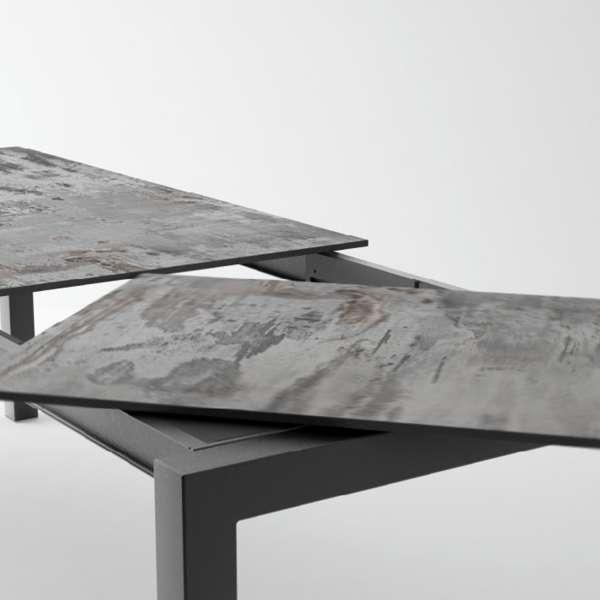 Table en Dekton rectangulaire extensible avec pieds en métal - Lakera 2 - 15