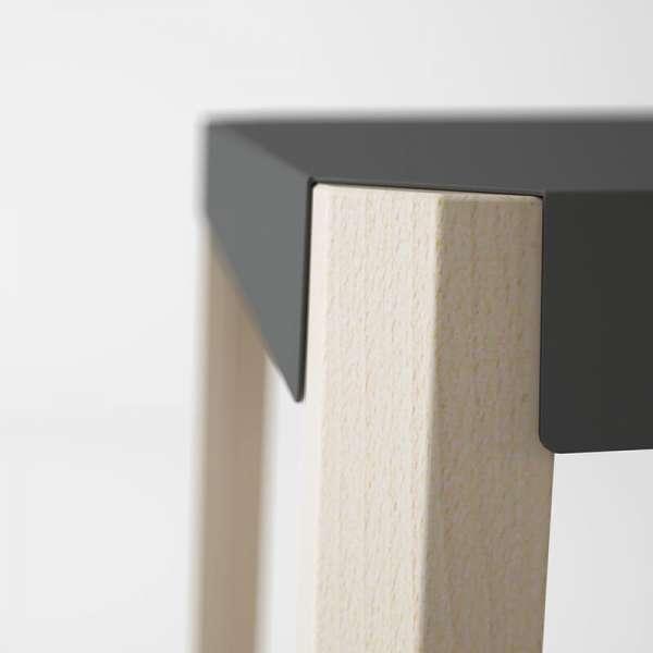 Tabouret bas triangulaire en métal et bois - Podio 9 - 9