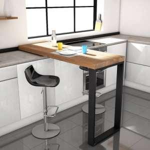 Table coulissante en stratifié et métal - Slide