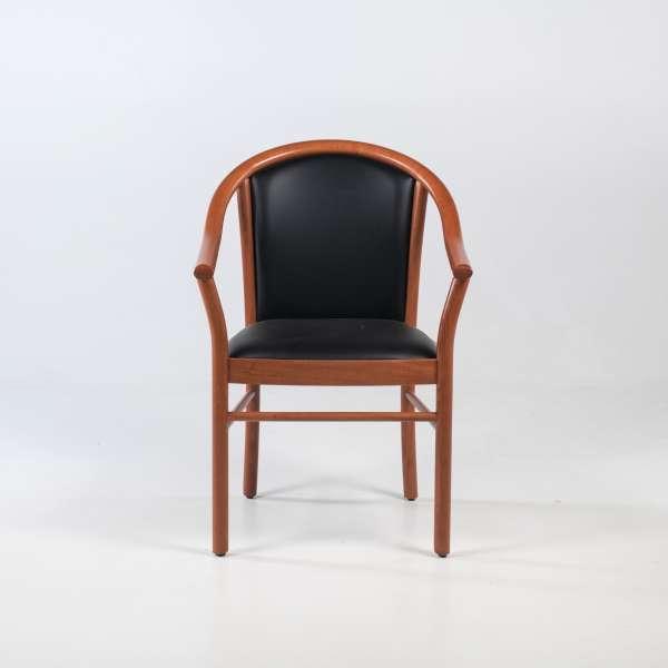 Fauteuil bridge de salon en bois avec assise et dossier rembourrés - Manuela - 2