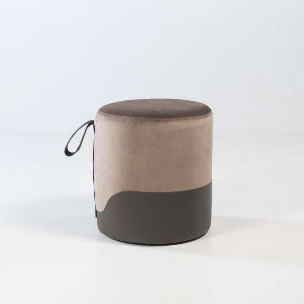 Pouf rond bicolore pour chambre - Edith - 2
