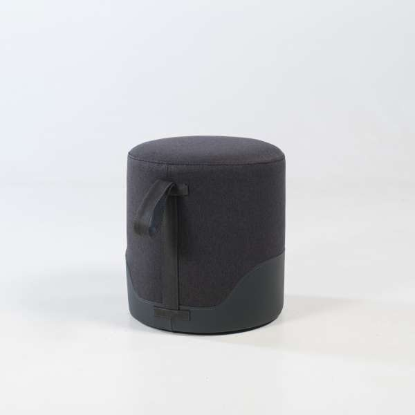 Pouf rond anthracite - Edith - 7