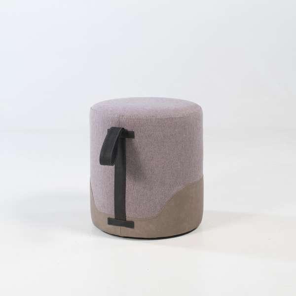 Pouf bicolore forme ronde - Edith - 11