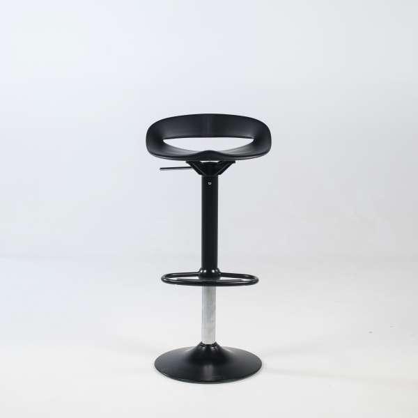Tabouret hauteur réglable moderne sans dossier assise noire pied central noir - Cosmopolitan Connubia® - 4