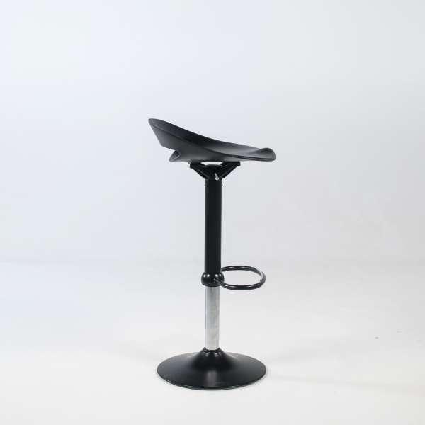 Tabouret hauteur réglable et pivotant moderne sans dossier assise noire pied central noir - Cosmopolitan Connubia® - 5