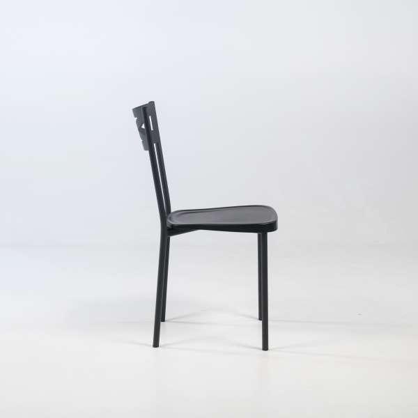 Chaise de cuisine contemporaine noire - Kelly - 4