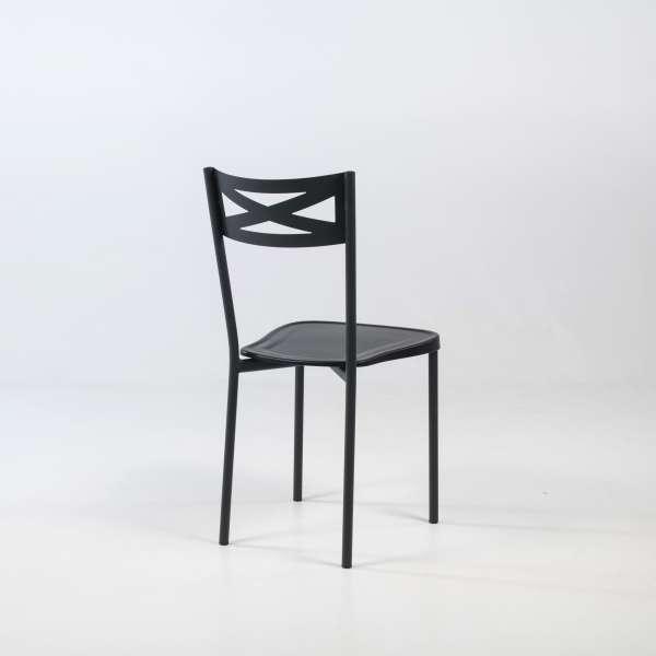 Chaise de cuisine contemporaine en métal assise noire - Kelly - 3