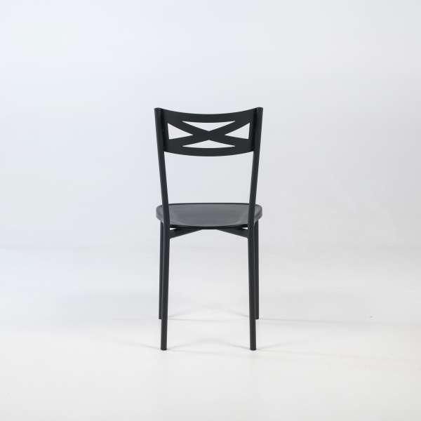 Chaise de cuisine contemporaine en métal noir - Kelly - 5