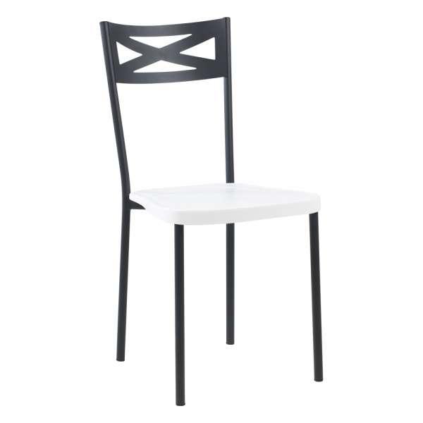 Chaise de cuisine contemporaine en métal assise blanche - Kelly - 8