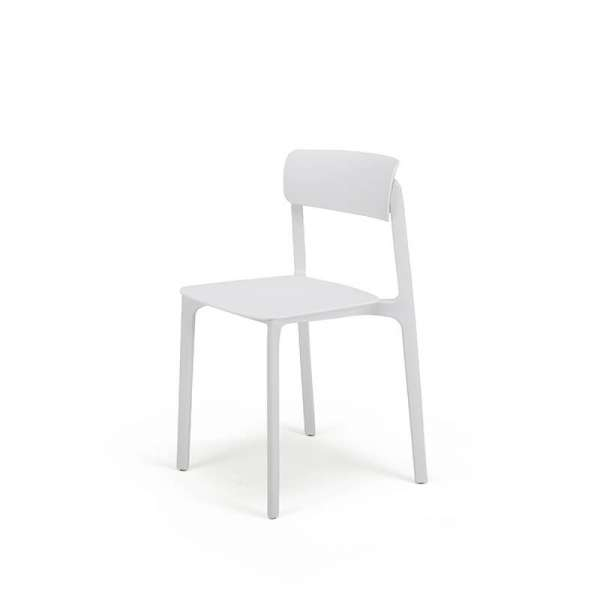 Chaise en plastique blanc - Neptune - 21