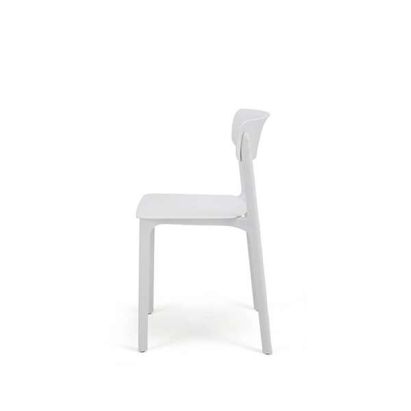 Chaise empilable en polypropylène blanc - Neptune - 20