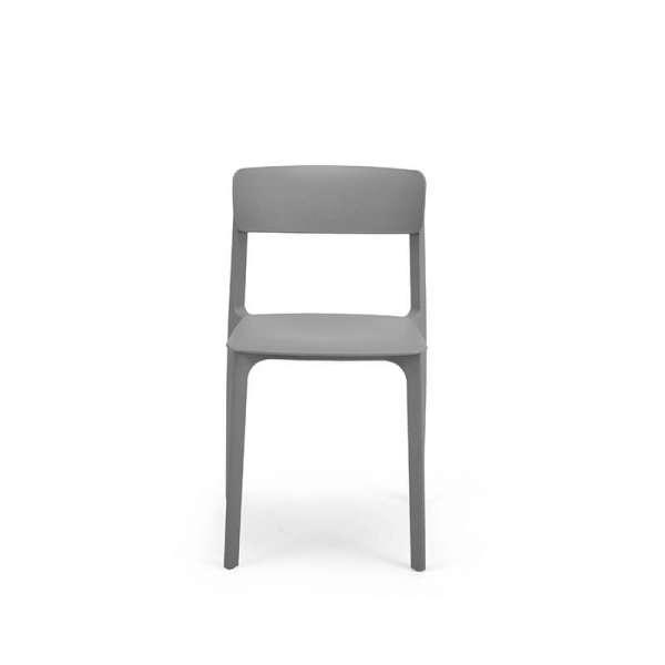 Chaise en polypropylène gris - Neptune - 27