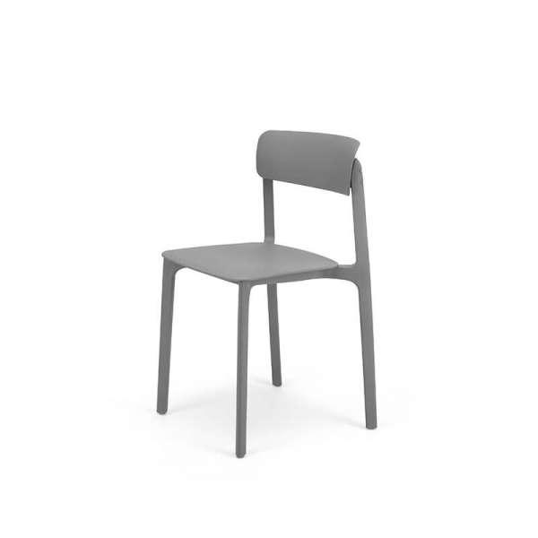 Chaise empilable en polypropylène gris - Neptune - 26