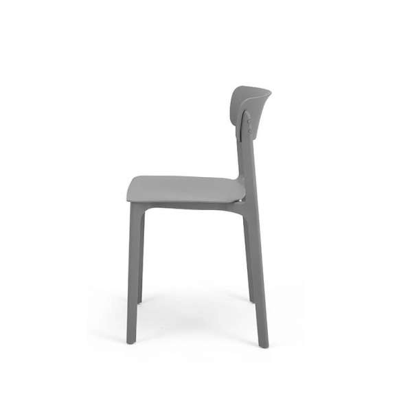 Chaise grise empilable - Neptune - 28