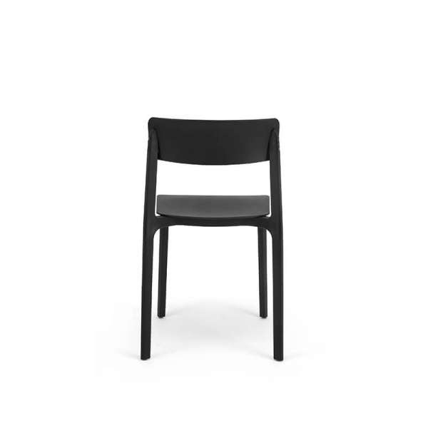 Chaise en polypropylène noir - Neptune - 12