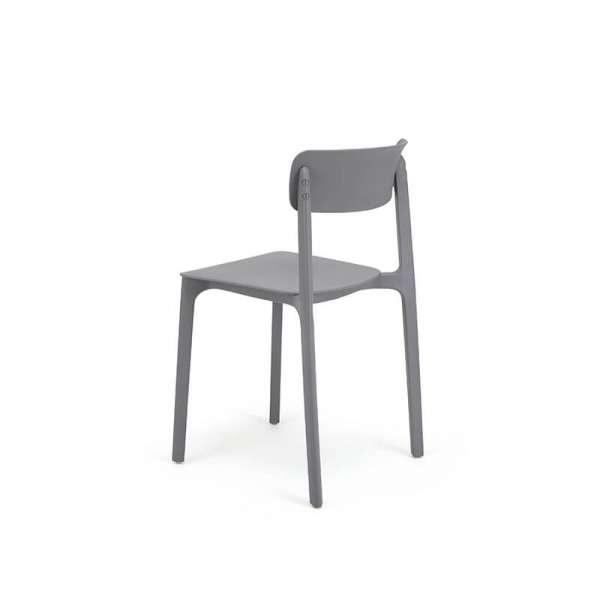 Chaise moderne en polypropylène gris - Neptune - 29