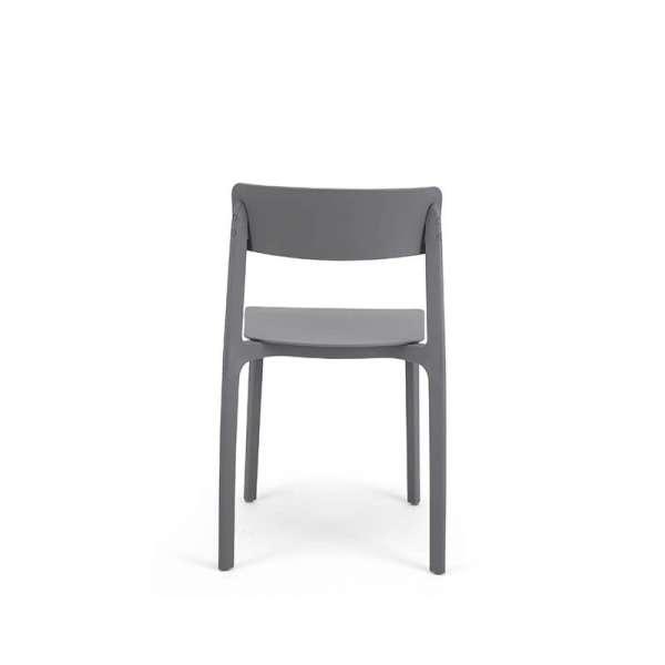 Chaise moderne  empilable en polypropylène gris - Neptune - 30