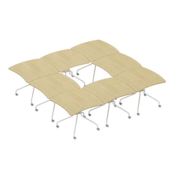 Table de réunion pliable made in France - Kali - 5